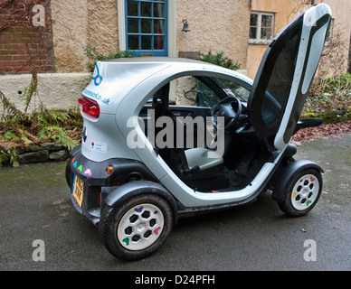 Wales, UK. A Renault Twizy electric city car - Stock Photo