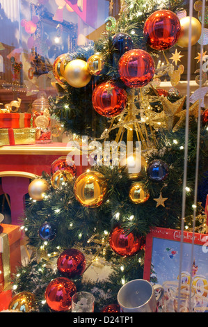 Christmas Decorations In A Shop Window At Disneyland Paris, December 2012    Stock Photo