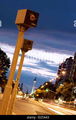 Berlin, Germany, radar control in the center of Berlin - Stock Photo