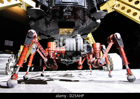 (HANDOUT) An undated handout shows a robot duo that could search for water one day on the moon in Bremen, Germany. - Stock Photo