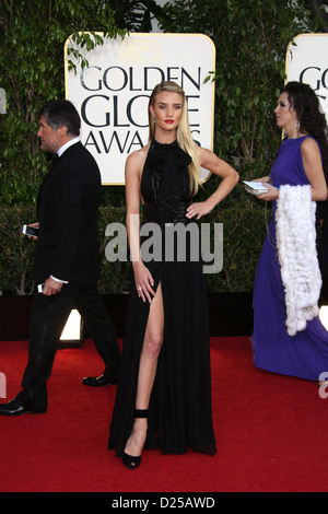 Model Rosie Huntington-Whiteley arrives at the 70th Annual Golden Globe Awards presented by the Hollywood Foreign - Stock Photo