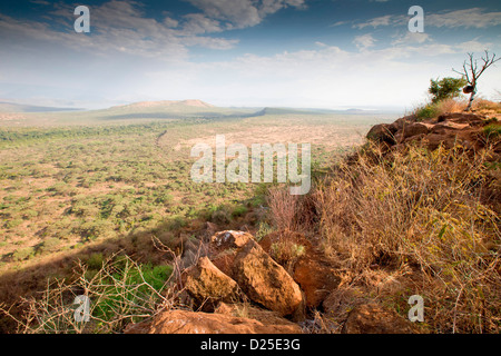 View of the Bridge of God at Nechisar National Park, Lower Omo Valley, Southern Ethiopia, Africa. - Stock Photo