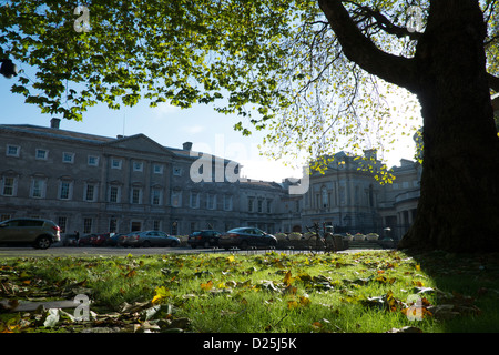 Leinster House National Parliament building for Republic of Ireland - Stock Photo