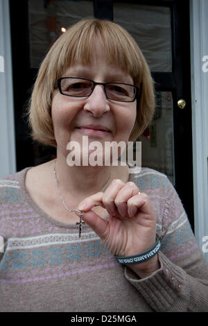 London, UK. Tuesday 15th January 2013.   The European Court of Human Rights has ruled against Nurse Shirley Chaplain - Stock Photo