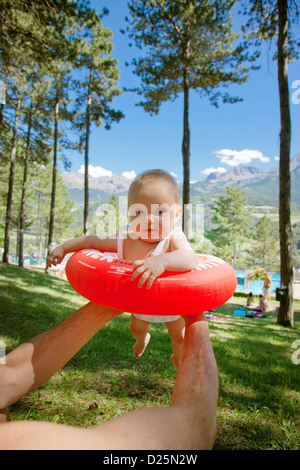 outdoors Exterior Outdoor Outside in air Airborne Mid-Air Midair carrying Carry holidays Holiday Vacation Vacationing - Stock Photo