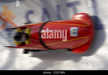 Bobsled on track - Stock Photo