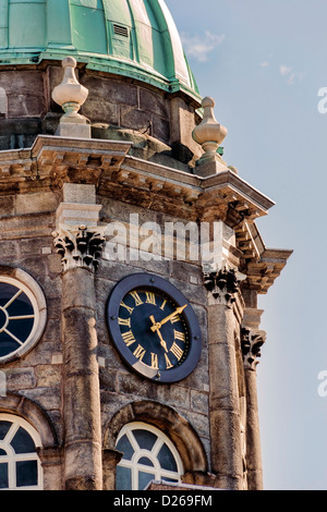Close up of The Bedford Tower in Dublin, Ireland - Stock Photo