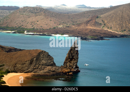 Bartolomé, off Santiago island in the Galapagos, boasts grand views of sea, beach, landscapes, even the striking - Stock Photo