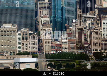 aerial photograph Chicago, Illinois - Stock Photo
