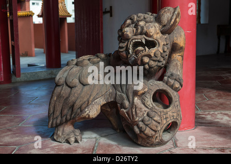 Dragon by the Entrance of the Confucius Shrine in Nagasaki Japan - Stock Photo