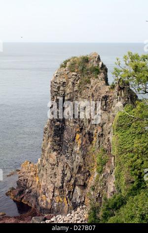 Jons kapel on the coast of the Danish island Bornholm - Stock Photo
