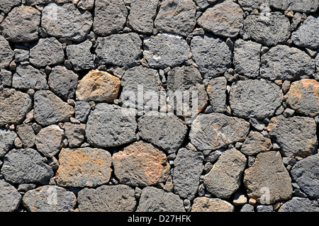 Lava stone volcanic texture detail from La Palma Stock ...