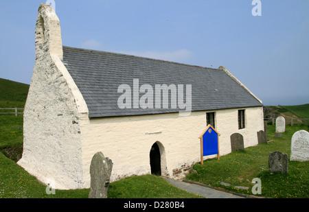 Holy Cross Church Mwnt Ceredigion Wales UK - Stock Photo