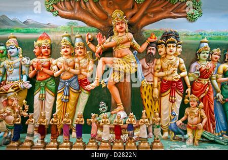 Hindu deities. Sri Mahamariamman Temple. Kuala Lumpur. Malaysia - Stock Photo