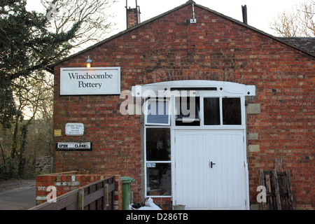 Winchombe Pottery traditional old country pottery in Gloucestershire established in 1926 on pottery site dating - Stock Photo