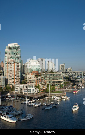 YALETOWN SKYLINE FALSE CREEK DOWNTOWN VANCOUVER BRITISH COLUMBIA CANADA - Stock Photo