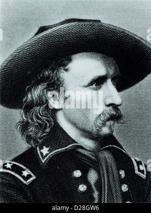 George Armstrong Custer (1839-1876), American Army Officer, Killed at the Battle of Little Big Horn, Portrait, Circa - Stock Photo