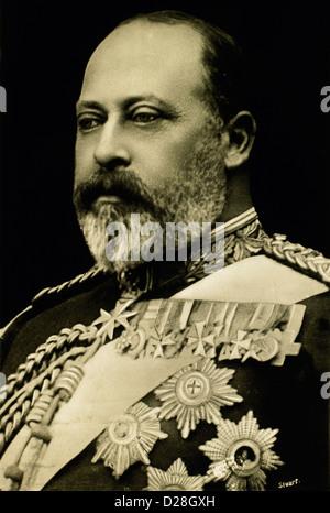 Edward VII (1841-1910) King of England 1901-10, portrait, 1901 - Stock Photo