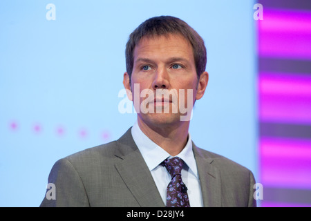 Bonn, Germany, Rene Obermann, CEO of the German Telekom AG - Stock Photo