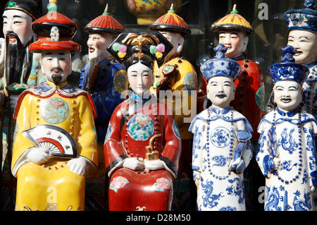 A shot  of chinese ancient  porcelain figurine - Stock Photo