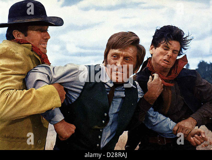 Der Weg Nach Westen  Way West,  ?, Kirk Douglas, ? Captain William J. Tadlock (Kirk Douglas,m), der autoritaere - Stock Photo