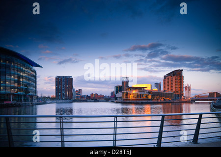 Salford Quays Greater Manchester Lancashire England - Stock Photo