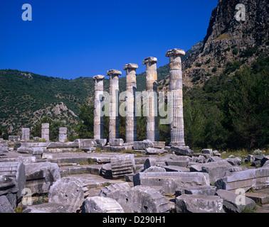 Temple of Athena Polias, Turkey - Stock Photo