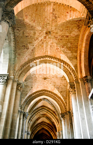 France, Vienne, Interior Of Saint Maurice Cathedral - Stock Photo