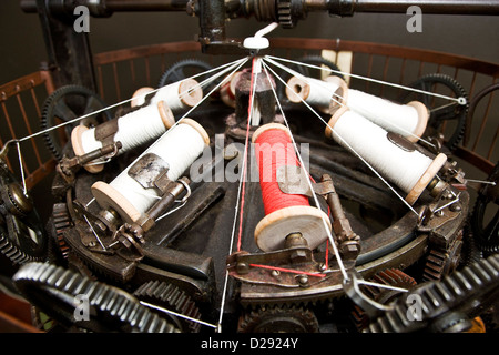 Old Rope weaving machine - Stock Photo