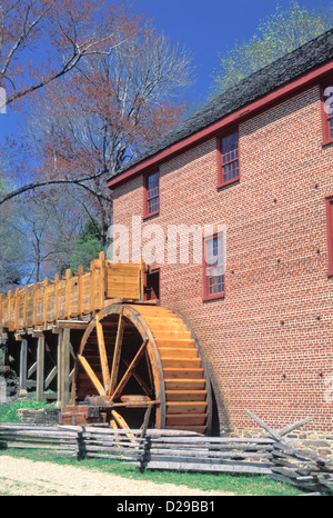 Virginia. Colvin Mill. Water Wheel . - Stock Photo