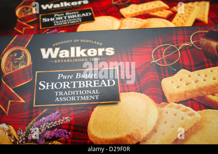 Walkers pure butter shortbread - Stock Photo