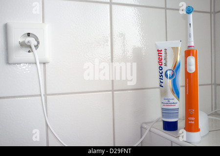 Braun Oral-B electric toothbrush Stock Photo
