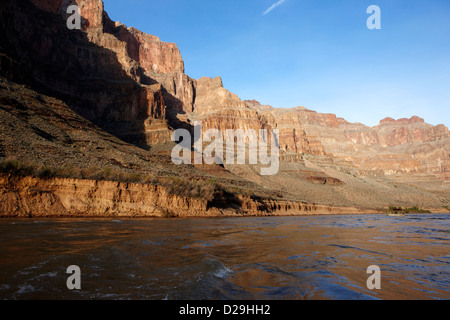 colorado river bottom of the grand canyon Arizona USA - Stock Photo