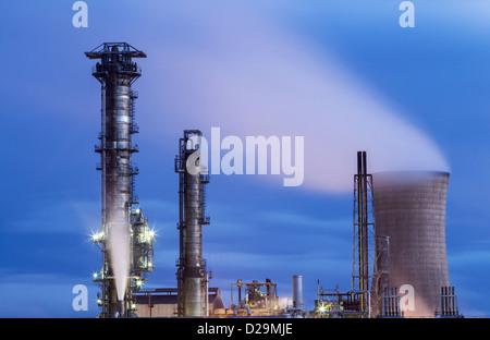 Chemical plant at Billingham near Middlesbrough, England, UK - Stock Photo
