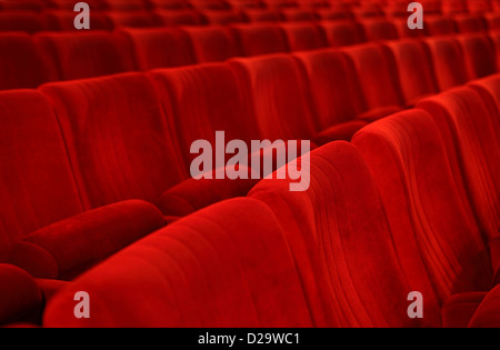 Berlin, Germany, empty seats in a movie theater - Stock Photo
