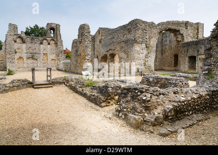 Wolvesey Castle ruins in Winchester, Hampshire, UK - Stock Photo