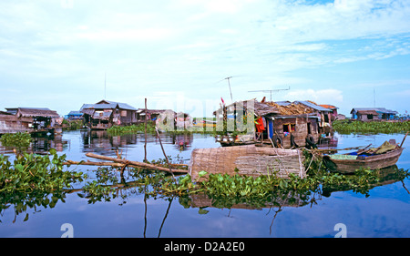 A Vietnamese Floating Village Southern Cambodia South East Asia - Stock Photo