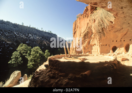 New Mexico, Bandelier National Monument. Kiva - Stock Photo