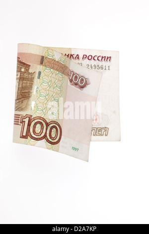 Berlin, Germany, 100 Russian rubles - Stock Photo