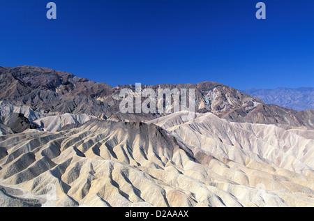 Nevada, Death Valley. Zabriskie Point. - Stock Photo
