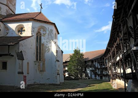Prejmer (German: Tartlau; Hungarian: Prázsmár) is a commune in Braşov County, Romania. Prejmer is noted for its - Stock Photo