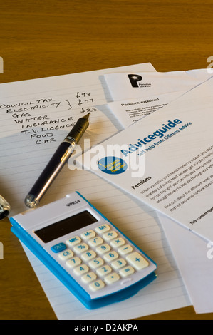 Calculating household expenses. - Stock Photo