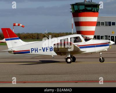 Piper PA-28-161 PH-VFB at Lelystad airport. - Stock Photo
