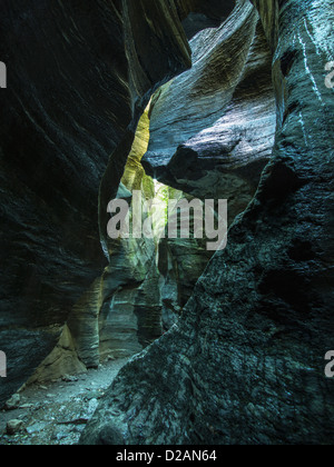 Crevice in rock formations - Stock Photo