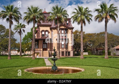 Fulton Mansion, French second empire style (1877), State Historic Site, Gulf Coast, Rockport, Texas, USA - Stock Photo