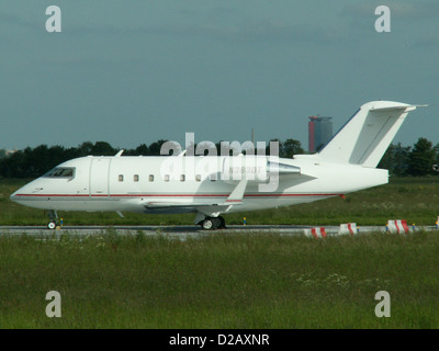 Canadair Challenger 601-3A. N383DT - Stock Photo