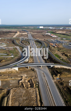 Schoenefeld, Germany, the new access roads to the BBI - Stock Photo