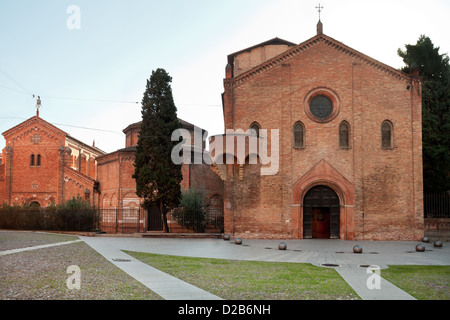 front view of religious complex Santo Stefano Abbey in Bologna, Italy - Stock Photo