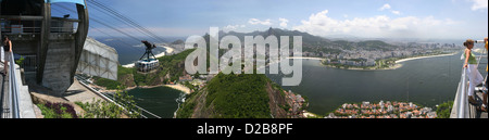 Rio de Janeiro, Brazil, View from the top station of the cable car - Stock Photo
