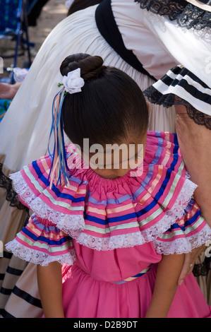 Mexican Folk Dancers El Rancho De Las Golondrinas That Is Living History Museum 18Th Century Spanish Colonial New - Stock Photo